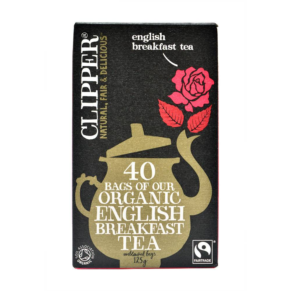 Clipper Fairtrade Organic Breakfast Tea 40 bags - Shipping From Just £2.99 Or FREE When You Spend £55 Or More