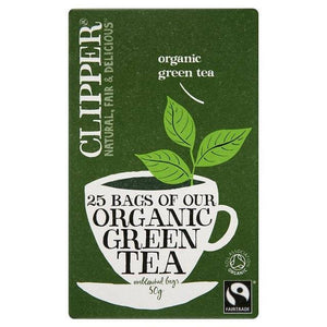 Clipper Organic Green Tea 25b - Shipping From Just £2.99 Or FREE When You Spend £55 Or More