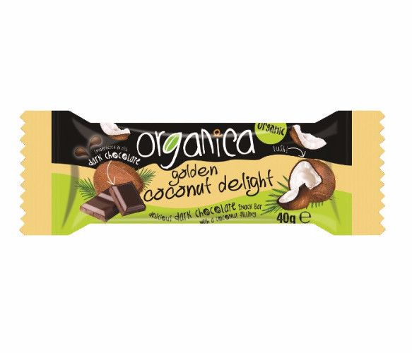 Organica Golden Coconut Delight Vegan 40g - Shipping From Just £2.99 Or FREE When You Spend £60 Or More