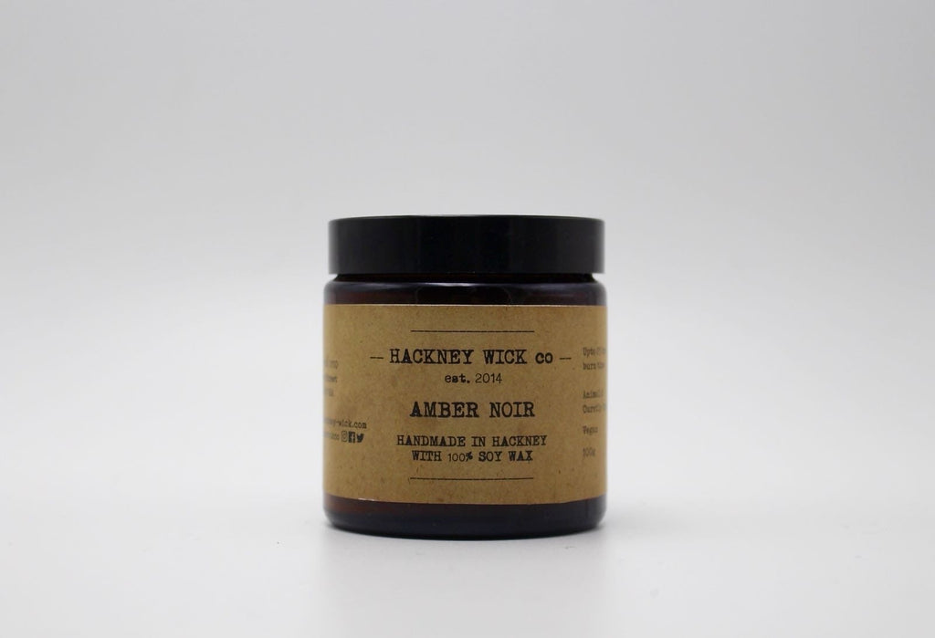 Hackney Wick Co. Amber Noir candle - Shipping From Just £2.99 Or FREE When You Spend £60 Or More
