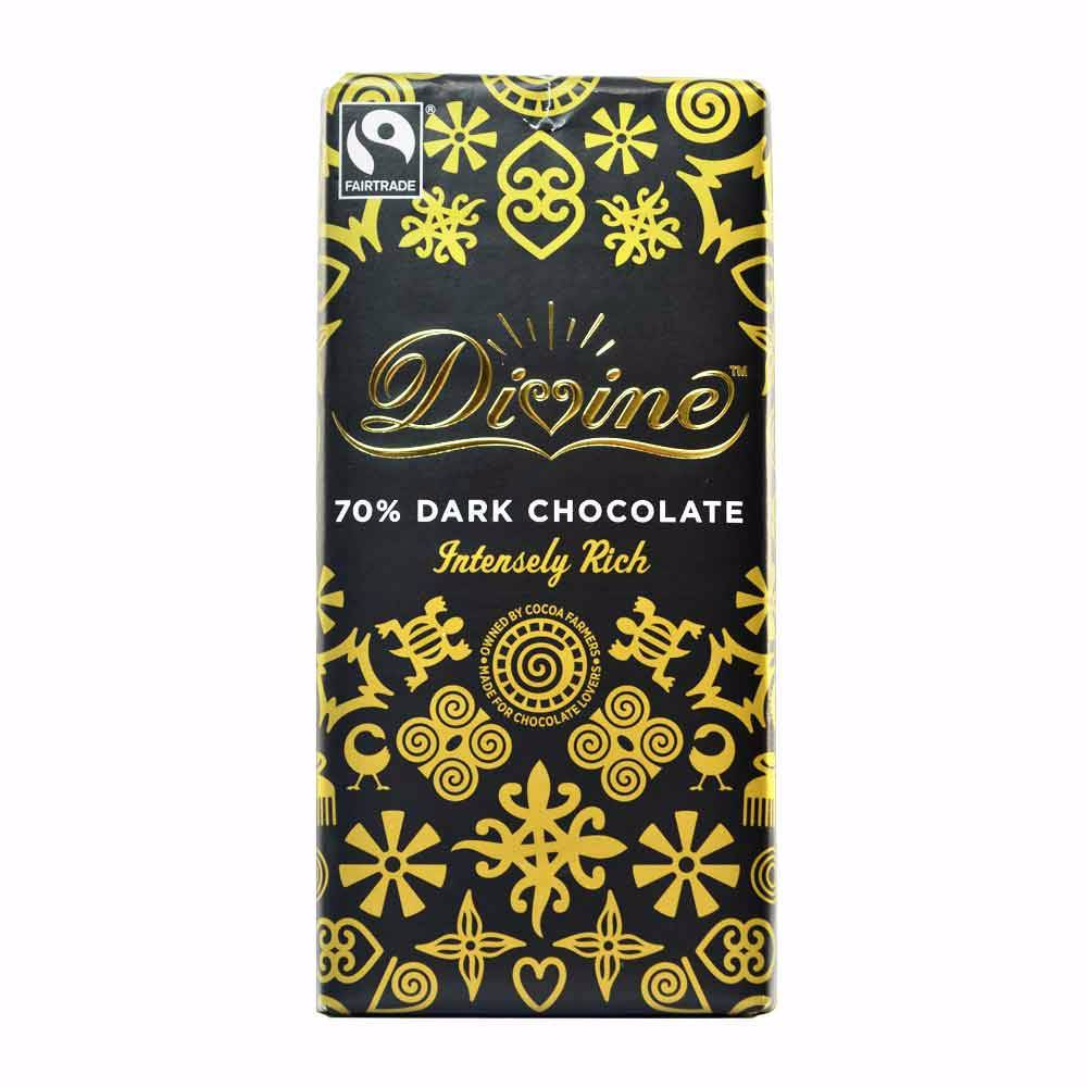 Divine 70% Dark Chocolate 100g - Shipping From Just £2.99 Or FREE When You Spend £60 Or More