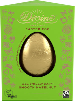 Divine Chocolate Easter Egg Smooth Hazelnut 100g