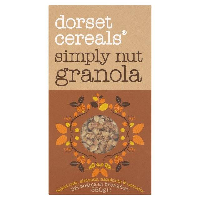 Dorset Cereals Simply Nutty Granola- 550g - Shipping From Just £2.99 Or FREE When You Spend £60 Or More