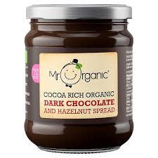 Mr Organic Dark Chocolate & Hazelnut Spread - 200g - Shipping From Just £2.99 Or FREE When You Spend £55 Or More