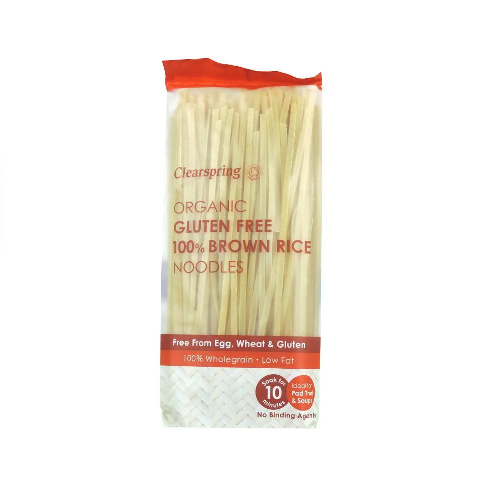 Clearspring 100% Brown Rice Noodles - 200g - Shipping From Just £2.99 Or FREE When You Spend £60 Or More