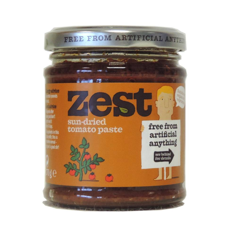 Zest Sundried Tomato Paste - 170g - Shipping From Just £2.99 Or FREE When You Spend £60 Or More