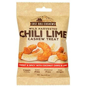 East Bali Cashews Chili Lime Cashew Snack 35g - Shipping From Just £2.99 Or FREE When You Spend £55 Or More