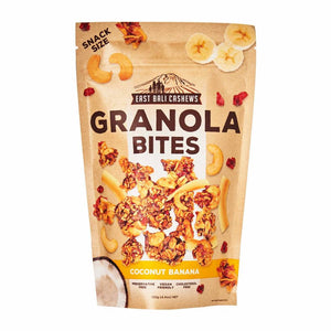 East Bali Cashews Granola Bites Coconut Banana 125g - Shipping From Just £2.99 Or FREE When You Spend £60 Or More