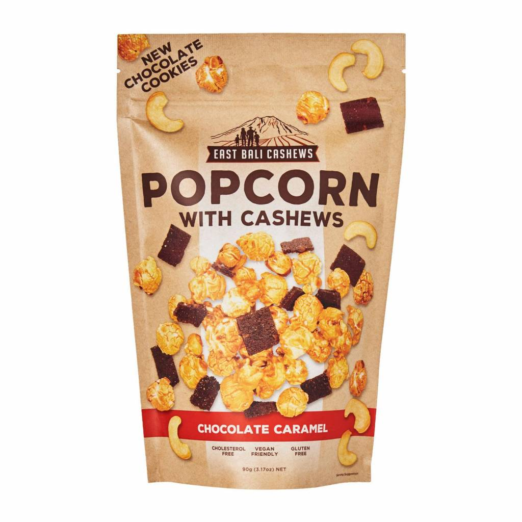 East Bali Cashews Popcorn Chocolate Caramel with cashews 90g - Shipping From Just £2.99 Or FREE When You Spend £60 Or More