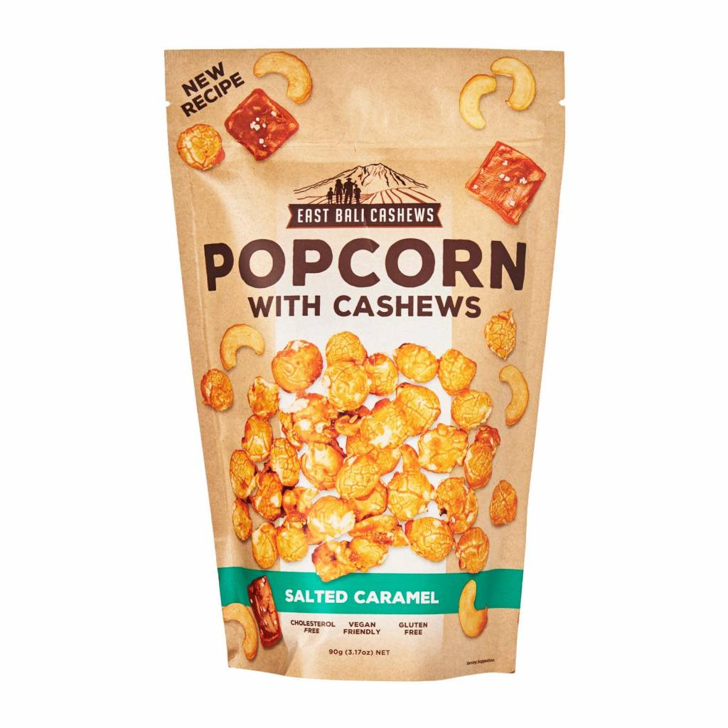 East Bali Cashews Popcorn Salted Caramel with cashews 90g - Shipping From Just £2.99 Or FREE When You Spend £55 Or More