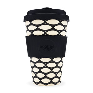 Ecoffee Cup Basketcase Design Reusable Bamboo Cup 400ml - Shipping From Just £2.99 Or FREE When You Spend £55 Or More
