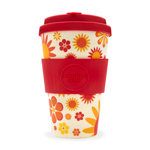 Ecoffee Cup Happier Design Reusable Bamboo Cup 400ml