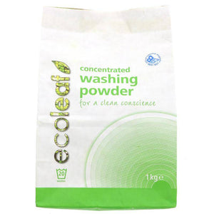 Ecoleaf Washing Powder Concentrated 1kg - Shipping From Just £2.99 Or FREE When You Spend £60 Or More