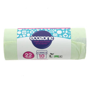 Ecozone Compostable Caddy Liner 10L - 22 bags - Shipping From Just £2.99 Or FREE When You Spend £60 Or More