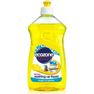 Ecozone Washing Up Liquid Lemon 500ml - Shipping From Just £2.99 Or FREE When You Spend £60 Or More