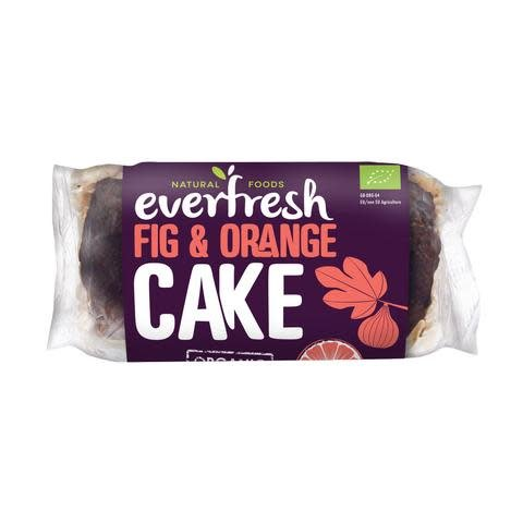 Everfresh Organic Fig and Orange Cake 400g - Shipping From Just £2.99 Or FREE When You Spend £60 Or More