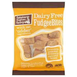 Fabulous Free From Factory Dairy Free Fudgee Bites 75g - Shipping From Just £2.99 Or FREE When You Spend £55 Or More