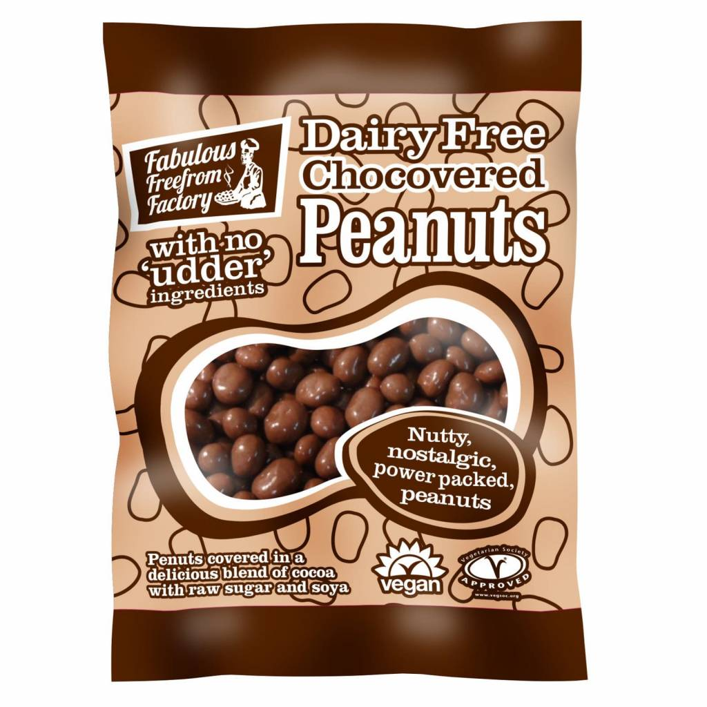Fabulous Freefrom Factory - Dairy Free Chocovered Peanuts 65g - Shipping From Just £2.99 Or FREE When You Spend £60 Or More