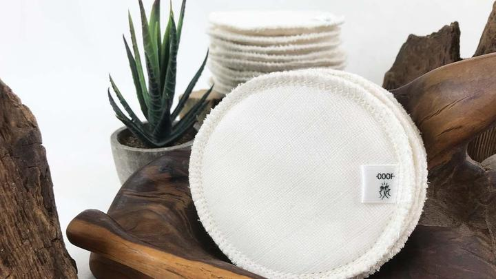 OOOF Set of Three Organic Bamboo & Cotton Reusable Eco Facial Rounds