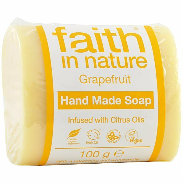 Faith in Nature Grapefruit Soap Unwrapped 100g - Shipping From Just £2.99 Or FREE When You Spend £55 Or More