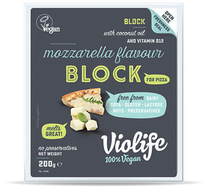 Violife Coconut Cheese Mozza Block ''For Pizza'' 200g - Shipping From Just £2.99 Or FREE When You Spend £60 Or More