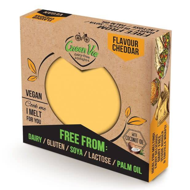 GreenVie Cheddar Block 250g - Shipping From Just £2.99 Or FREE When You Spend £60 Or More