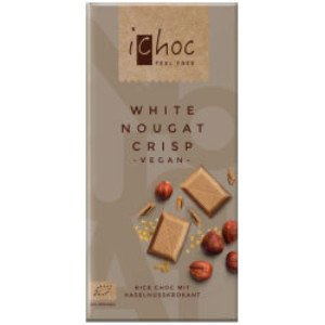 iChoc White Nougat Crisp 80g - Shipping From Just £2.99 Or FREE When You Spend £60 Or More