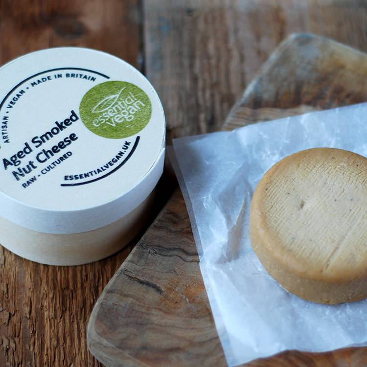 Essential Vegan - Aged Smoked Nut Cheese 150g - Shipping From Just £2.99 Or FREE When You Spend £60 Or More