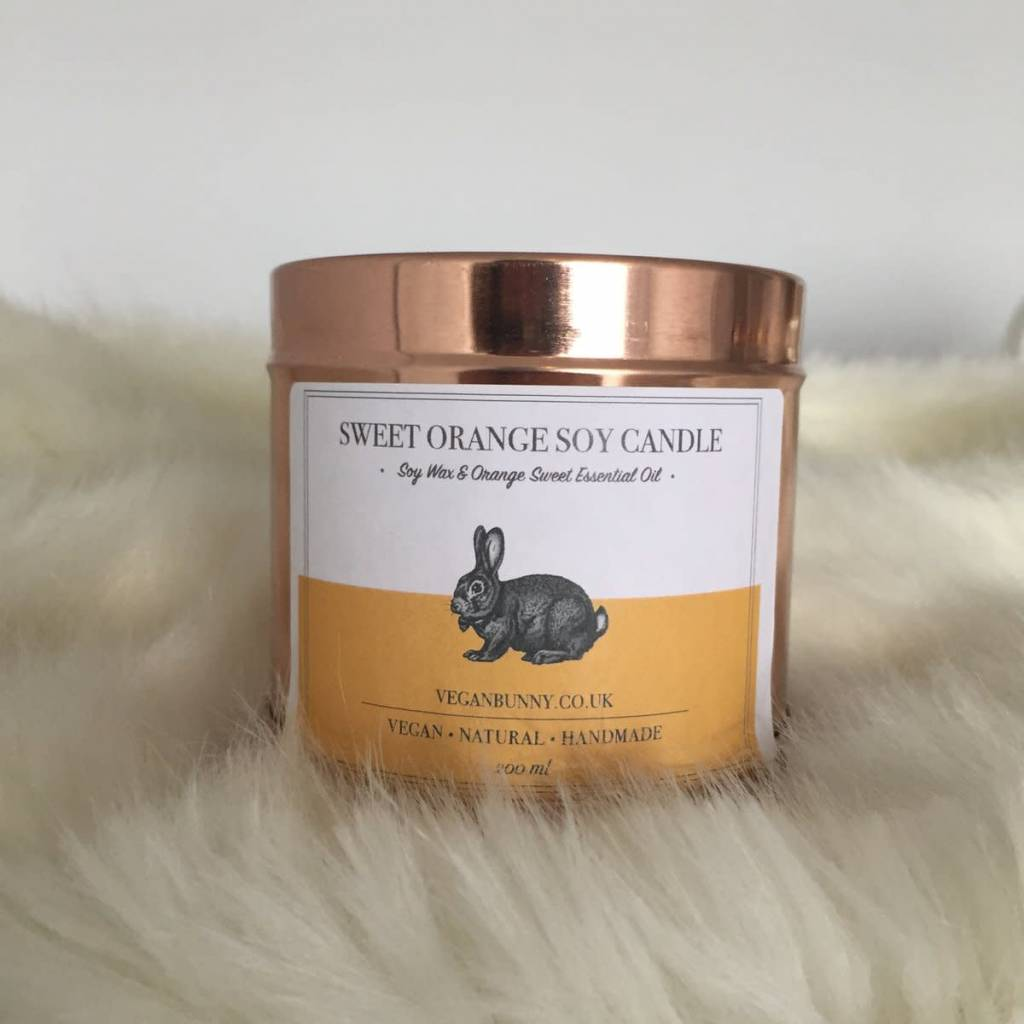 Vegan Bunny Sweet orange candle 200ml