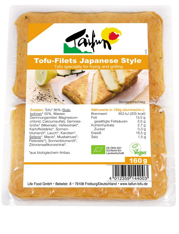 Taifun Tofu Filets Japanese Style 160g - Shipping From Just £2.99 Or FREE When You Spend £60 Or More