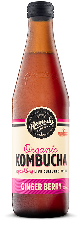 Remedy Organic Kombucha - Ginger Berry 330ml - Shipping From Just £2.99 Or FREE When You Spend £55 Or More