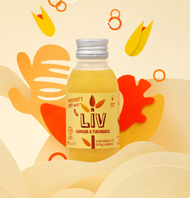 Liv Ginger & Turmeric Oat Shot 100ml - Shipping From Just £2.99 Or FREE When You Spend £60 Or More