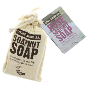 Living Naturally Rose Castile Soapnut Soap 90g