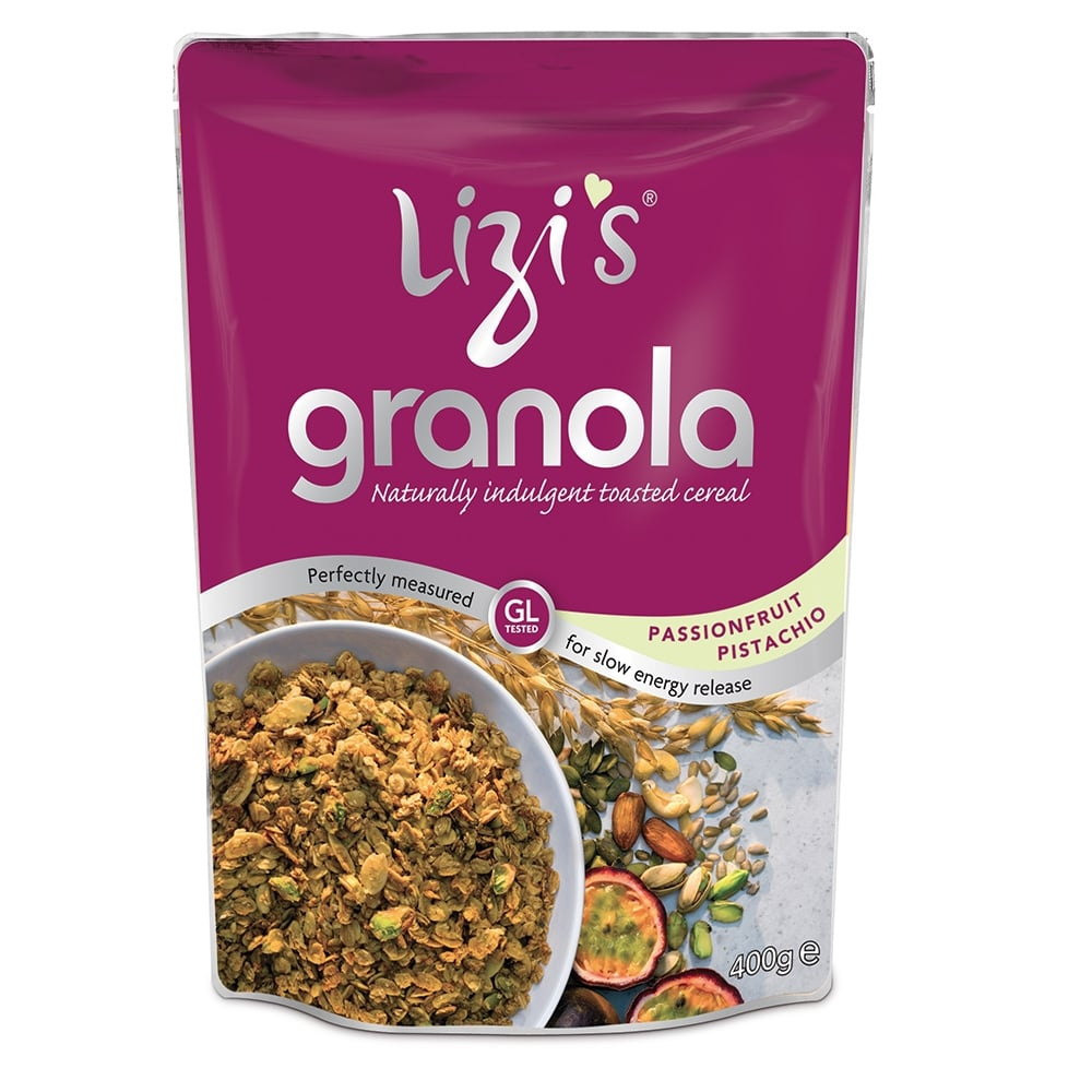 Lizi's Passionfruit Pistachio Granola 400g - Shipping From Just £2.99 Or FREE When You Spend £60 Or More