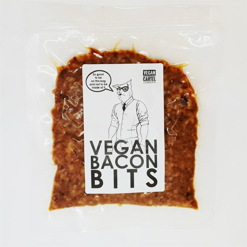 Vegan Cartel Vegan Bacon Bits 100g - Shipping From Just £2.99 Or FREE When You Spend £60 Or More