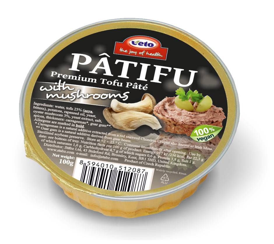 Patifu Tofu Pate Mushrooms 100g