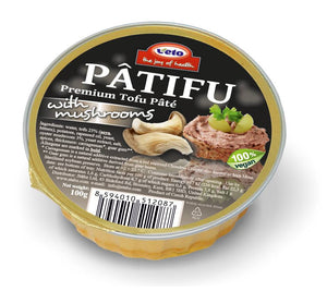 Patifu Tofu Pate Mushrooms 100g - Shipping From Just £2.99 Or FREE When You Spend £60 Or More