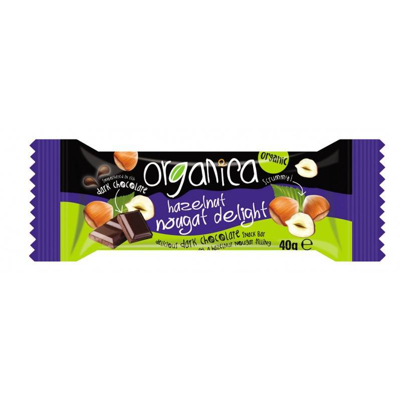 Organica Hazelnut Nougat Delight 40g - Shipping From Just £2.99 Or FREE When You Spend £60 Or More
