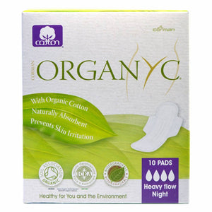 Sanitary Pads Night Heavy Flow (With Folded Wings) 10 pads - Shipping From Just £2.99 Or FREE When You Spend £60 Or More