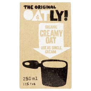 Oatly Organic Oat Single Cream 250ml - Shipping From Just £2.99 Or FREE When You Spend £55 Or More