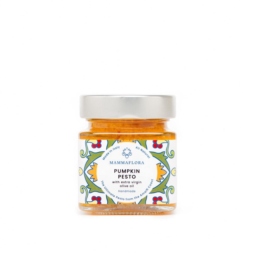 Mamma Flora Handmade Pumpkin Pesto Sauce - 130g - Shipping From Just £2.99 Or FREE When You Spend £60 Or More