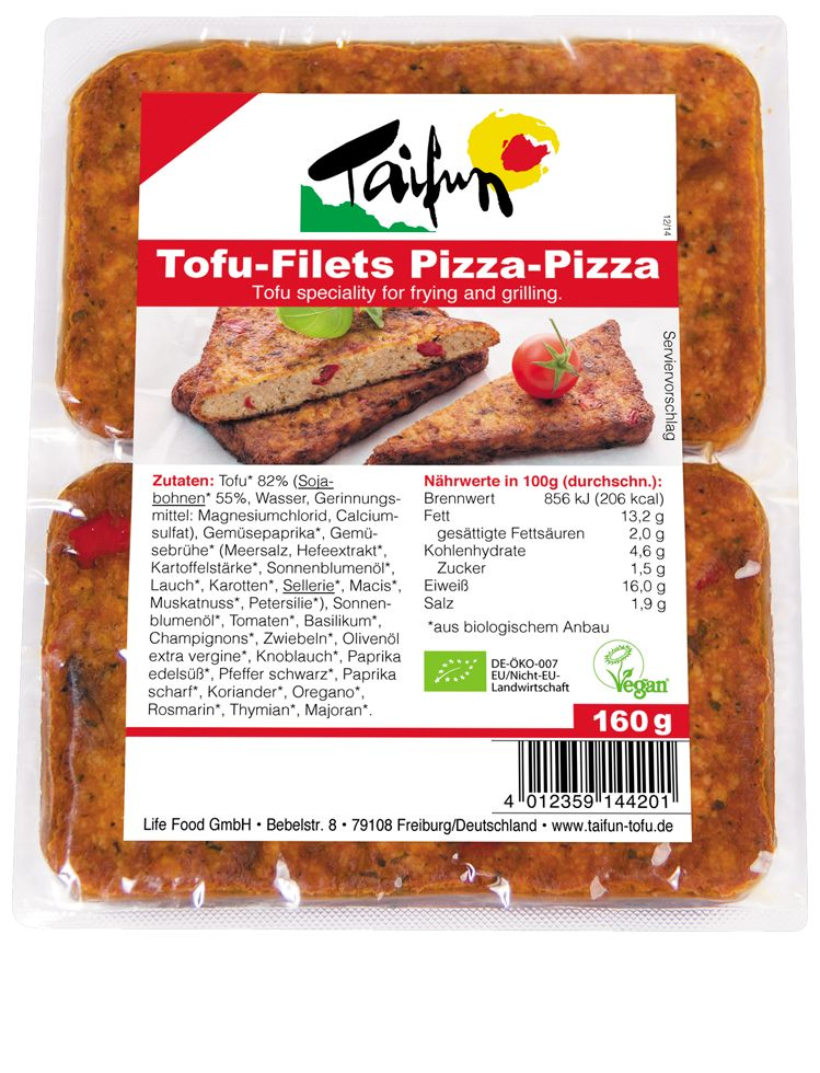 Taifun Tofu Filets Pizza Style - 160g - Shipping From Just £2.99 Or FREE When You Spend £60 Or More