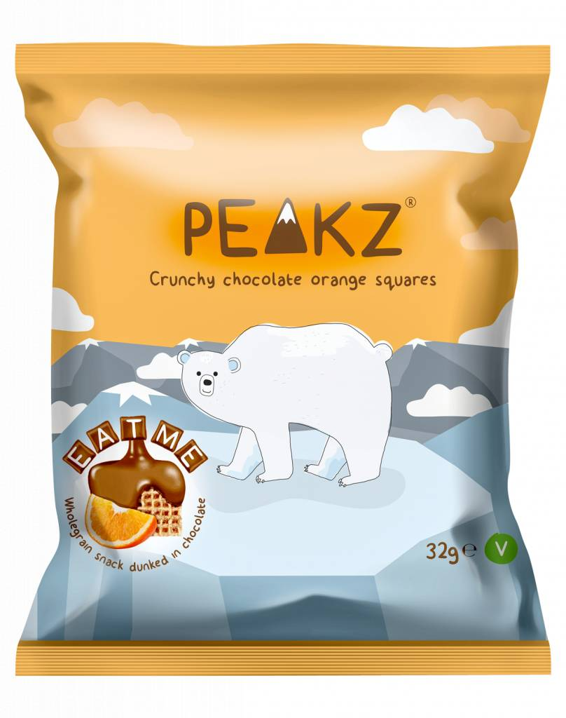 Peakz Chocolate Orange Squares 32g - Shipping From Just £2.99 Or FREE When You Spend £60 Or More