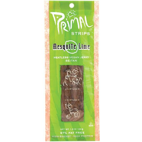 Primal Strips Mesquite Lime Seitan Jerky 28g - Shipping From Just £2.99 Or FREE When You Spend £60 Or More