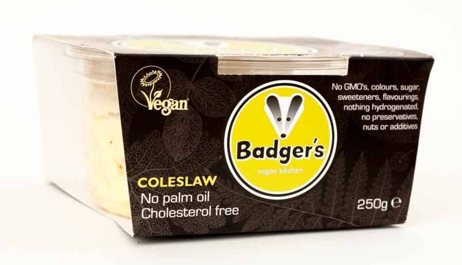 Badger's Coleslaw 250g - USE BY 18/01/20 (x2) and 25/1/20 (x3) - Shipping From Just £2.99 Or FREE When You Spend £55 Or More