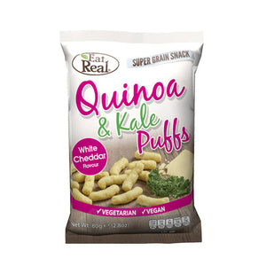 Eat Real Quinoa Kale Puffs Cheese 113g - Shipping From Just £2.99 Or FREE When You Spend £60 Or More