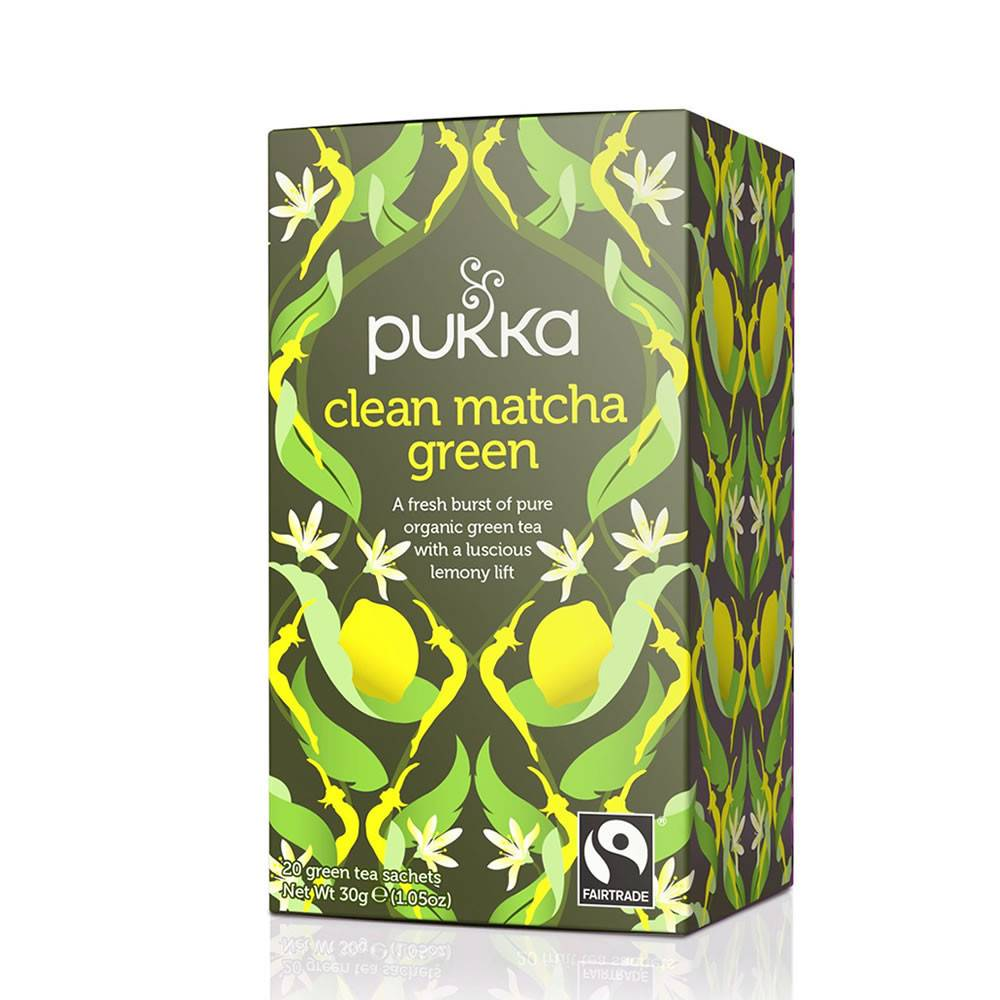 Pukka Clean Green Matcha 20 bags - Shipping From Just £2.99 Or FREE When You Spend £55 Or More