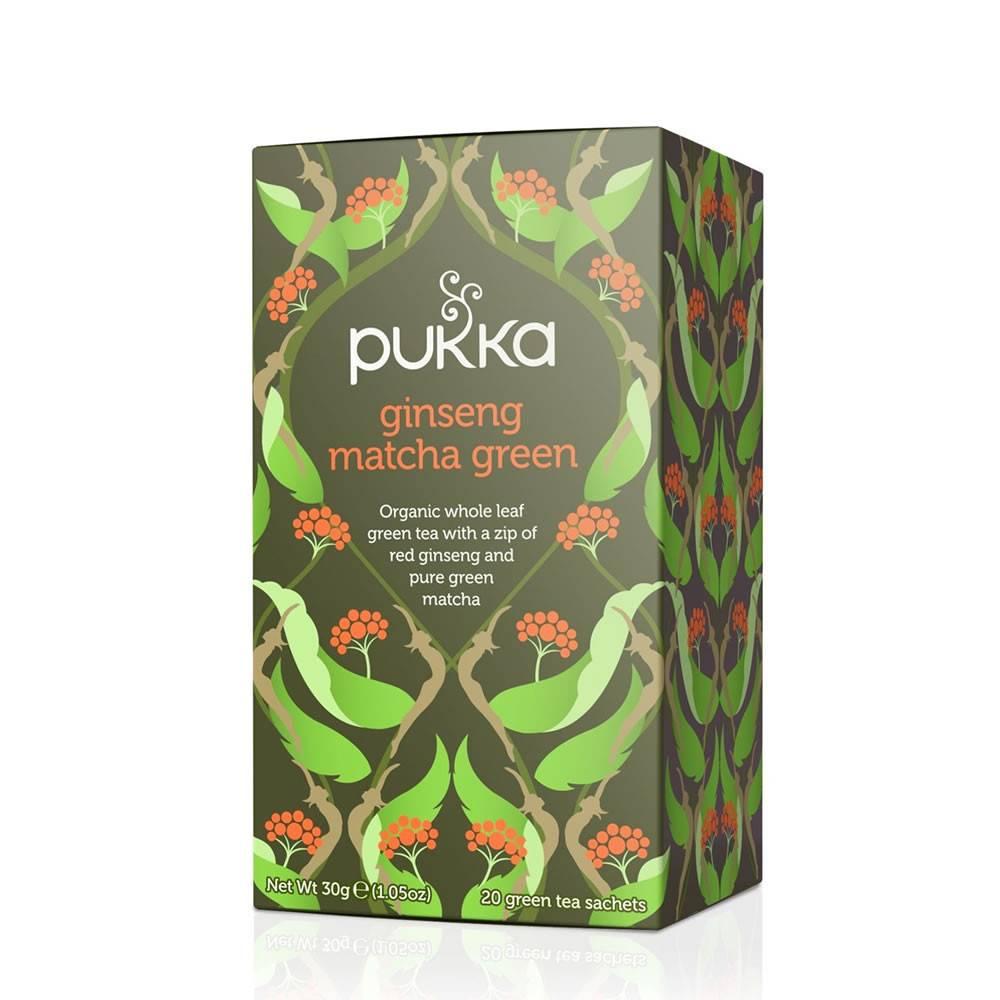 Pukka Ginseng Matcha Green 20 bags - Shipping From Just £2.99 Or FREE When You Spend £55 Or More