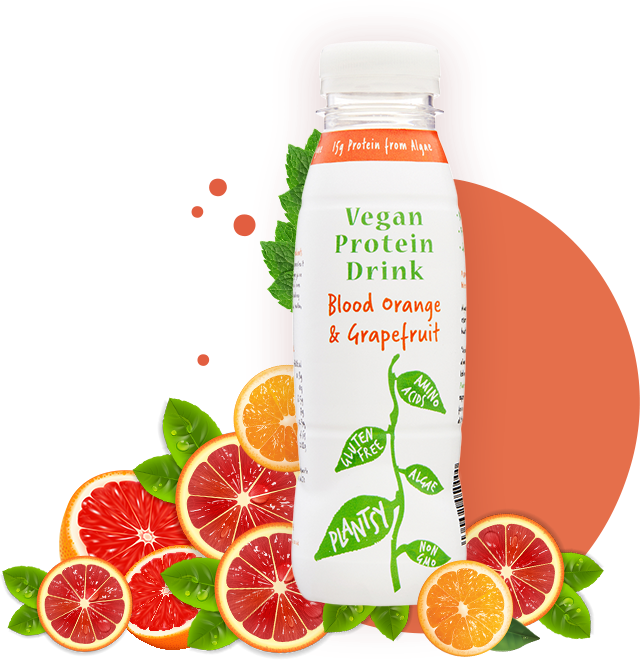 Plantsy Protein Drink - Blood Orange & Grapefruit 330ml - Shipping From Just £2.99 Or FREE When You Spend £60 Or More