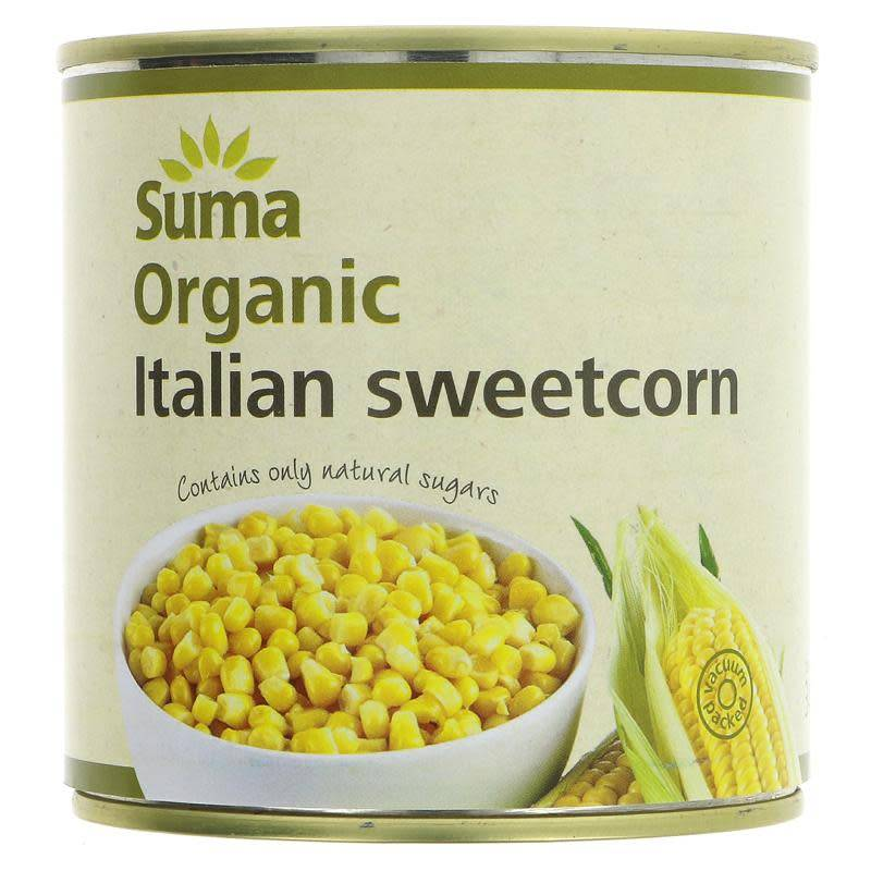 Suma Italian Sweetcorn - Organic 340g - Shipping From Just £2.99 Or FREE When You Spend £60 Or More